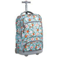 J World Blossom Sunburst Rolling 15.4-inch Laptop Backpack