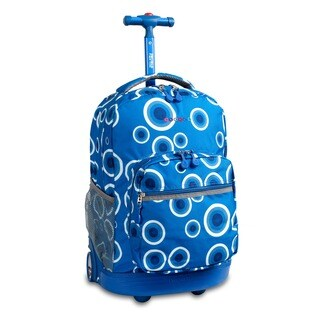 J World Blue Target Sunrise 18-inch Rolling Backpack