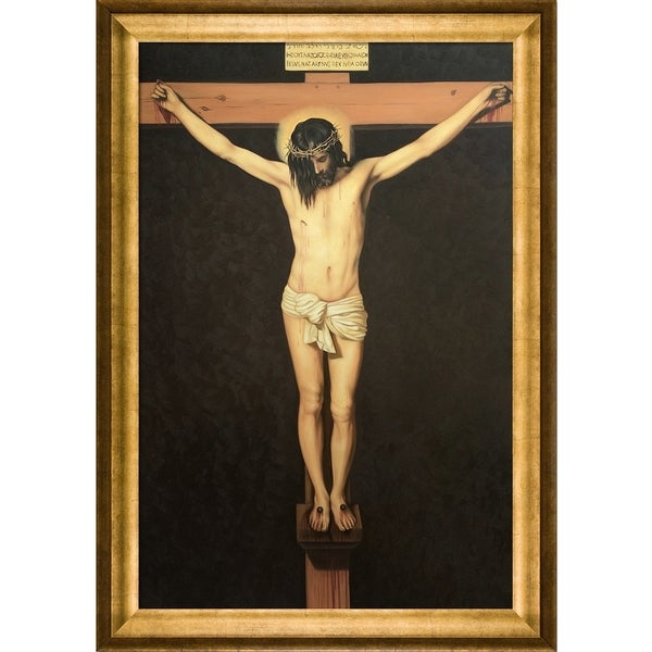 Diego Velazquez 'Christ on the Cross' Hand Painted Framed Canvas Art