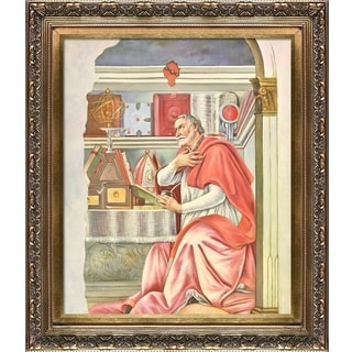 Botticelli 'St Augustine' Hand Painted Framed Canvas Art