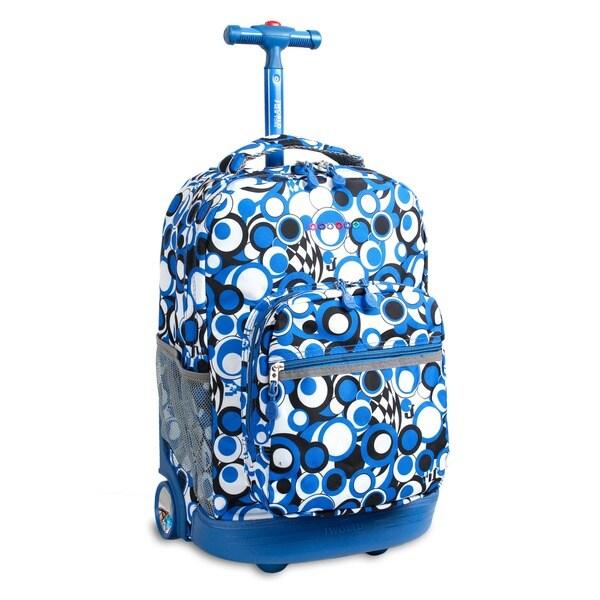 J World Chess Blue Sunrise 18-inch Rolling Backpack