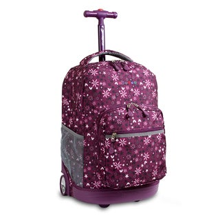 J World Garden Purple Sunrise 18-inch Rolling Backpack