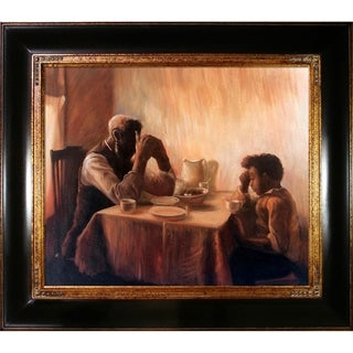 Henry Ossawa Tanner 'The Thankful Poor' Hand Painted Framed Canvas Art