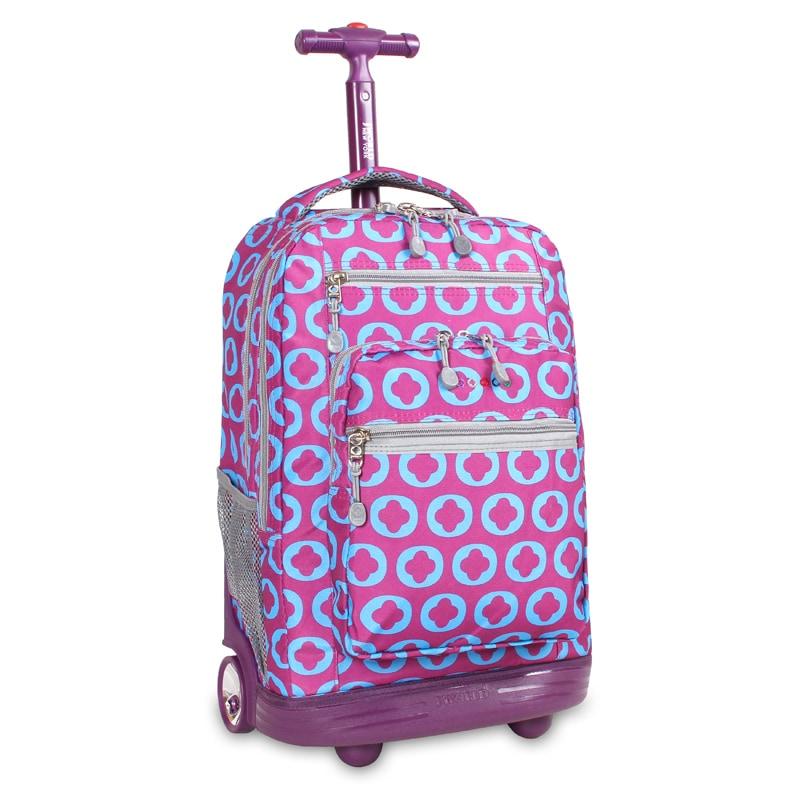 J World J Logo Sundance Rolling 15.4-inch Laptop Backpack...