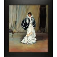 Alfred Henry Maurer 'The Black Cape' Hand Painted Framed Canvas Art