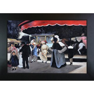 Alfred Henry Maurer 'Carrousel' Hand Painted Framed Canvas Art