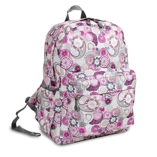 J World Purple Lemon OZ Expandable 17-inch Backpack