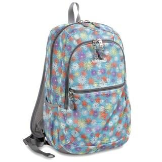 J World Spring Printed Mesh Backpack