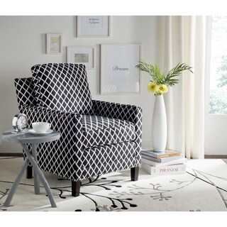 Safavieh Buckler Black/ White Club Chair