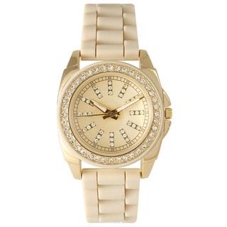 Olivia Pratt Women's 40007 Elegant Rhinestone Bezel Silicone Watch
