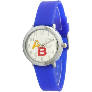 Olivia Pratt Children's 20294H ABC Silver Dial Blue Strap Watch