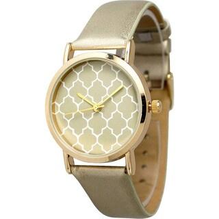 Olivia Pratt Women's 13243 Metallic Leather Watch