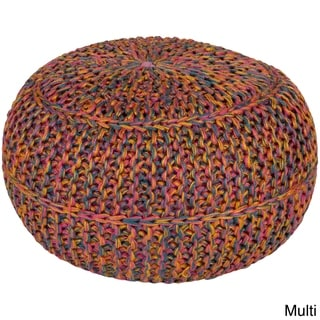 Shop Woven Berg Round 20 Inch Jute Pouf On Sale Free