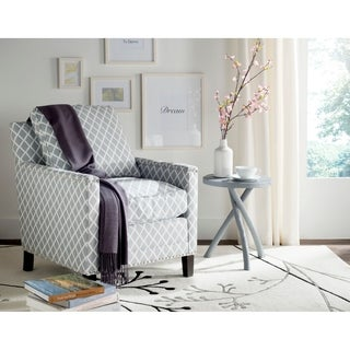 Safavieh Buckler Grey/ White Club Chair