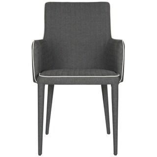 Safavieh Mid-Century Dining Summerset Modern Grey/ White Arm Chair