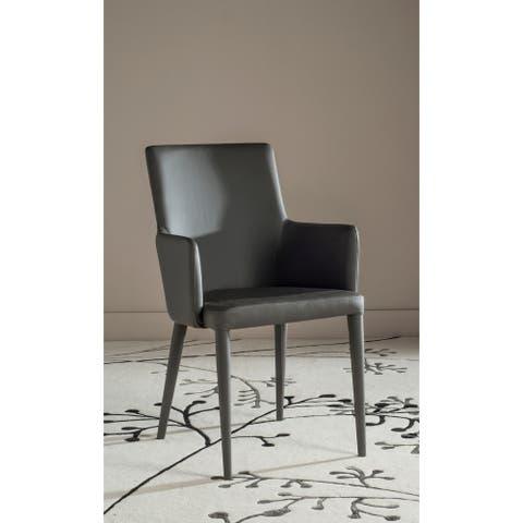 "SAFAVIEH Mid-Century Dining Summerset Modern Grey Arm Chair - 23.6"" x 21.6"" x 35.5"""