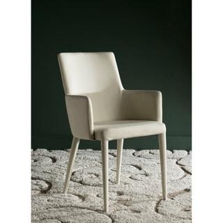 Safavieh Mid-Century Dining Summerset Modern Beige Arm Chair