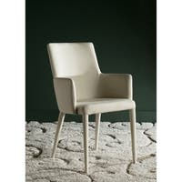 Safavieh Mid-Century Dining Summerset Modern Beige Arm Chair