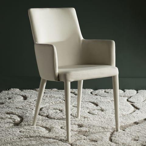 """SAFAVIEH Mid-Century Dining Summerset Modern Beige Arm Chair - 23.6"""" x 21.6"""" x 35.5"""""""