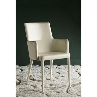 Safavieh Mid-Century Dining Summerset Buttercream Arm Chair