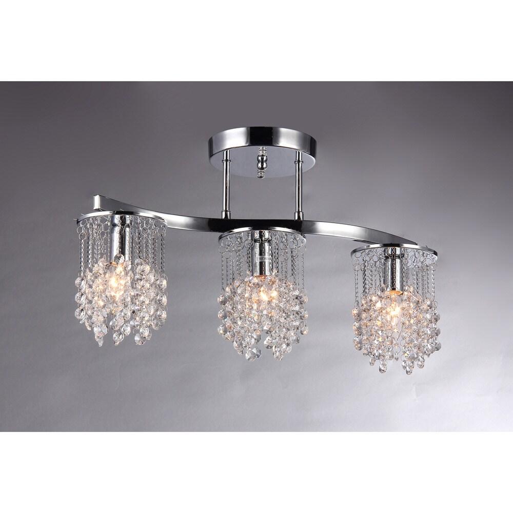 Piqq kaye piqq 20 inch 3 light crystal chandelier arubaitofo Choice Image