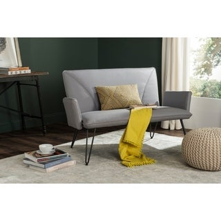Overstock Fiona Transitional Grey Chaise