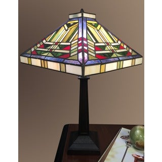 Lucy 1-light Tiffany-style 12-inch Table Lamp