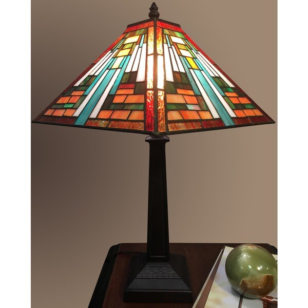 Elena 1 light tiffany style 12 inch table lamp free for 12 inch table lamps