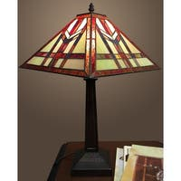 Savannah 1-light Tiffany-style 12-inch Table Lamp