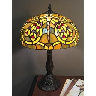 Gabriella 1-light Tiffany-style 12-inch Table Lamp