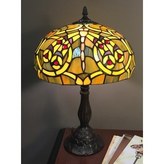 Gabriella 1-light Tiffany-style 12-inch Table Lamp