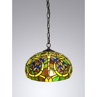 Callie 1-light Tiffany-style 12-inch Hanging Lamp