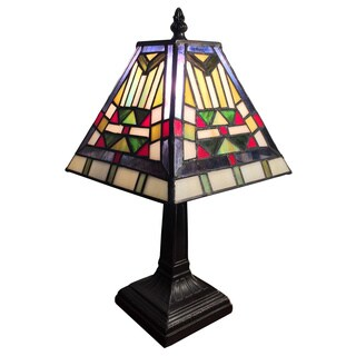 Alaina 1-light Tiffany-style 7.5-inch Table Lamp