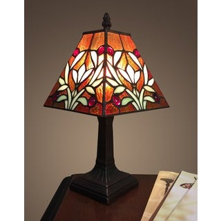 Sophie 1 Light Tiffany Style 7.5 Inch Table Lamp