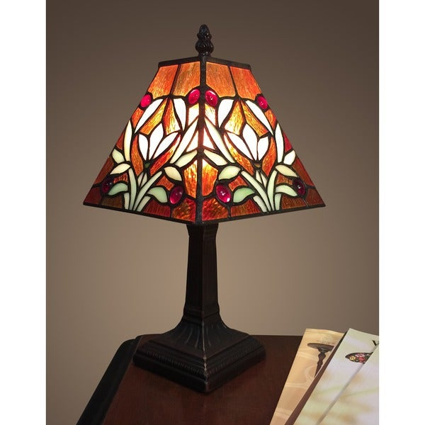 Sophie 1 light tiffany style 7 5 inch table lamp free for 10 inch table lamps