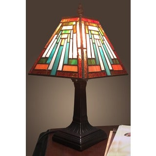 Mikayla 1-light Tiffany-style 7.5-inch Table Lamp