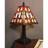 Sadie 1-light Tiffany-style 7.5-inch Table Lamp