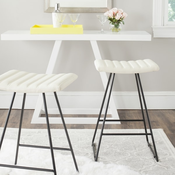 Shop Safavieh 26 8 Inch Akito Cream Counter Stool Free