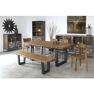 Christopher Knight Home Reclaimed Wood and Iron Dining Table - N/A