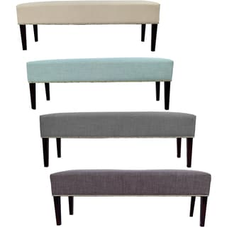 MJL Furniture Roxanne Nail Trim Upholstered Long Bench