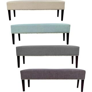 MJL Furniture Roxanne Nail Trim Upholstered Long Bench
