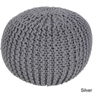 Solid Anah Round Cotton 20-inch Pouf