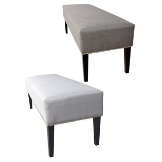 MJL Furniture Roxanne Sachi Nail Trim Upholstered Long Bench