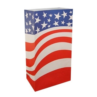 Flame Resistant Luminaria Bags Americana (12 Count)