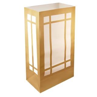 Luminaria Bags Gold Lantern (24 Count)