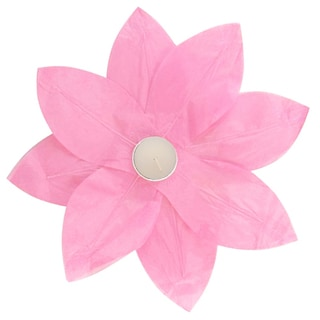 Floating Lotus Lanterns Pink (6 Count)