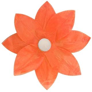 Floating Lotus Lanterns Orange (6 Count)