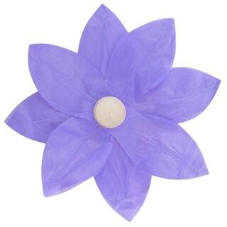 Floating Lotus Lanterns Purple (6 Count)