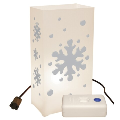 Electric Luminaria Kit with LumaBases Snowflake (10 Count)