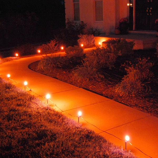 5 Pathway Lighting Tips Ideas Walkway Lights Guide: Shop Electric Pathway Lights Orange (10 Count)